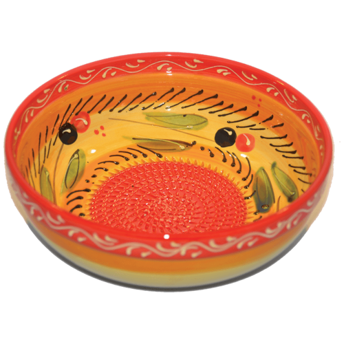 Orange Big Bowl Grater (Large Rasp Bowl)